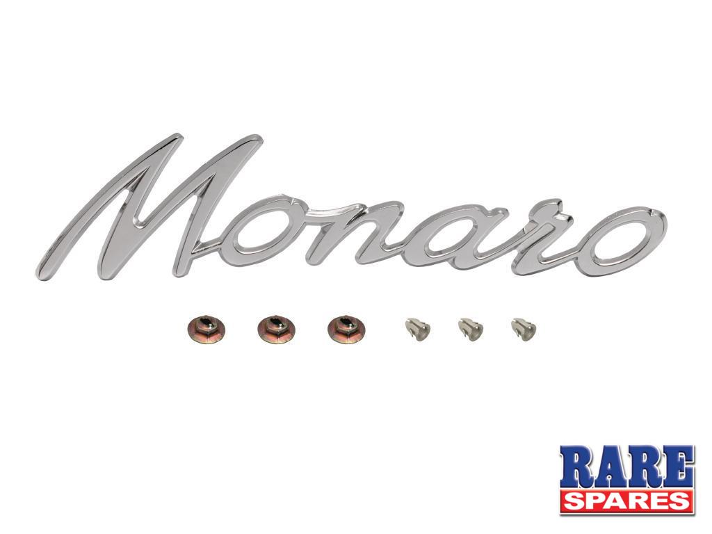 "Badge ""Monaro"" Chrome HK HT HG"
