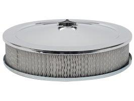 "Tfi Chrome Air Cleaner 14""X3"" Holley Std Base"