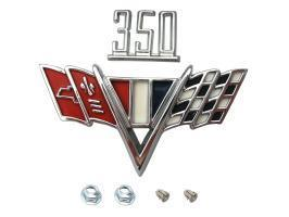 "Badge ""350"" Engine Size And Flags Kit"