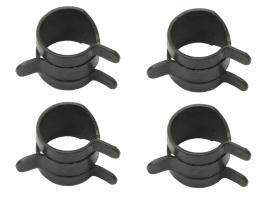 "Hose Clamp Kit (Spring Steel) 3/8""Od (Black) (4P"