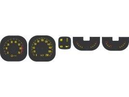 Gauge Decal Set (Yellow) Torana LX Ss/Slr W/Park
